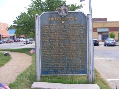 Fredericktown Marker image. Click for full size.