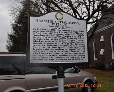 Franklin Special School District Marker image. Click for full size.
