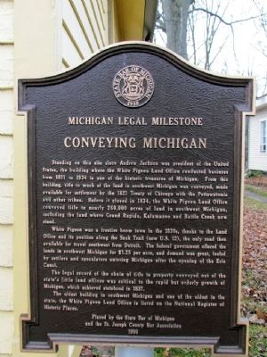 Michigan Legal Milestone Marker image. Click for full size.