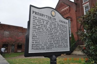Presbyterian Church Marker- side 2 image. Click for full size.