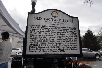 Old Factory Store Marker (side 2) image. Click for full size.