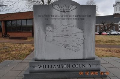 Williamson County Marker image. Click for full size.