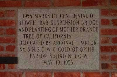 Centennial Dedication Plaque image. Click for full size.