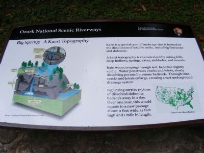 Big Spring-A Karst Topography Marker image. Click for full size.