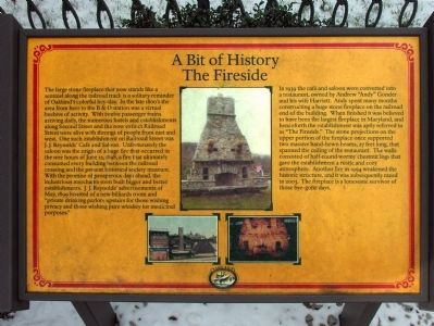 A Bit of History - The Fireside Marker image. Click for full size.