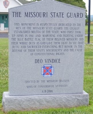 Missouri State Guard Marker image. Click for full size.