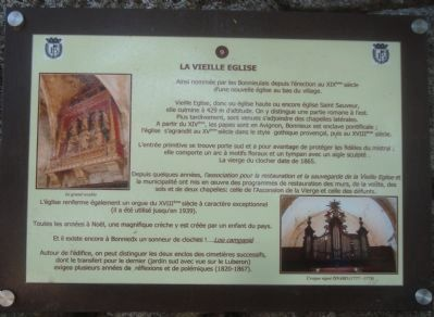La Vieille Eglise Marker image. Click for full size.