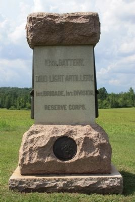 18th Battery, Ohio Light Artillery Marker image. Click for full size.