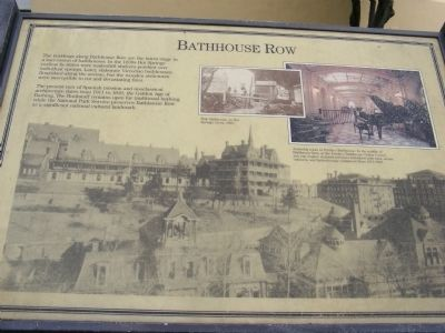 Bathhouse Row Marker image. Click for full size.
