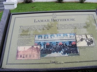Lamar Bathhouse Marker image. Click for full size.