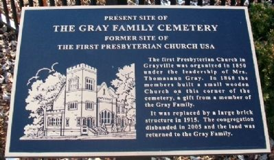 Present Site of The Gray Family Cemetery Marker image. Click for full size.