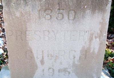 1915 First Presbyterian Church Cornerstone image. Click for full size.