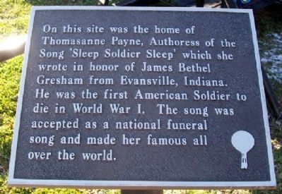 Thomasanne Payne Home Site Marker image. Click for full size.