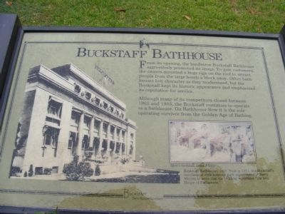 Buckstaff Bathhouse Marker image. Click for full size.