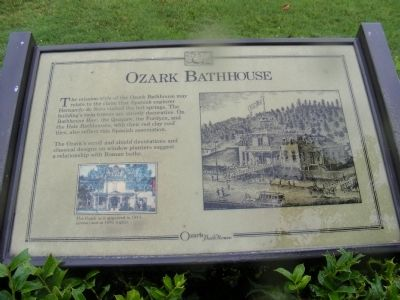 Ozark Bathhouse Marker image. Click for full size.