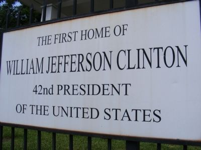 William Jefferson Clinton Marker image. Click for full size.