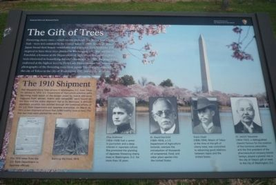 'The Gift of Trees - 1910 Shipment' Marker image. Click for full size.