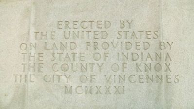 George Rogers Clark Memorial Dedication image. Click for full size.