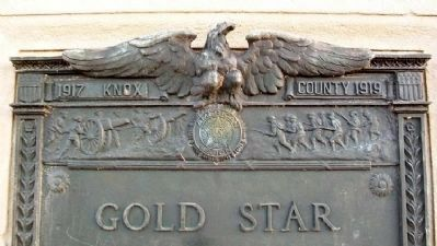 Gold Star - - Honor Roll Marker Detail image. Click for full size.