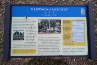 Oakwood Cemetery CWT Marker image. Click for full size.