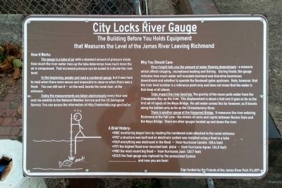 City Locks River Gauge Marker image. Click for full size.