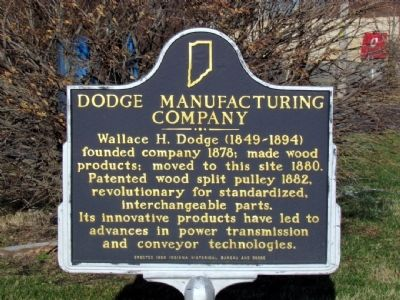 Dodge Manufacturing Company Marker image. Click for full size.