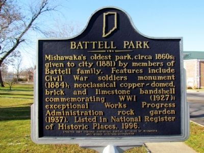 Battell Park Marker image. Click for full size.