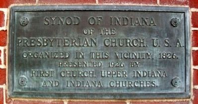 Synod of Indiana of the Presbyterian Church, U.S.A. Marker image. Click for full size.