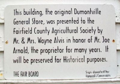 Dumontville General Store Marker image. Click for full size.