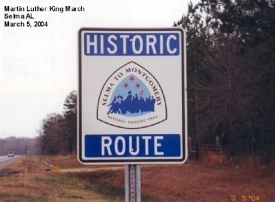 Selma to Monrgomery Trail Marker image. Click for full size.