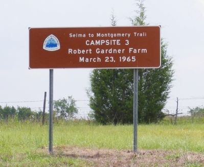 Selma to Montgomery Trail Marker image. Click for full size.