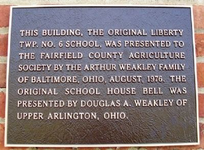 Liberty Township No. 6 School Marker image. Click for full size.