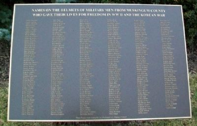 World War II and Korean War Memorial Honor Roll image. Click for full size.