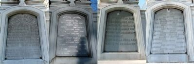 Mishawaka Civil War Soldiers Monument Inscriptions image. Click for full size.