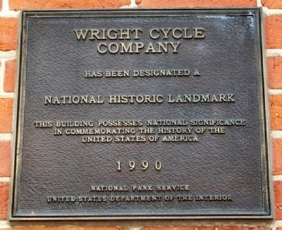 Wright Cycle Company NHL Marker image. Click for full size.