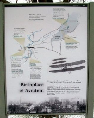 Birthplace of Aviation Marker image. Click for full size.