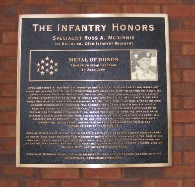 The Infantry Honors Marker image. Click for full size.