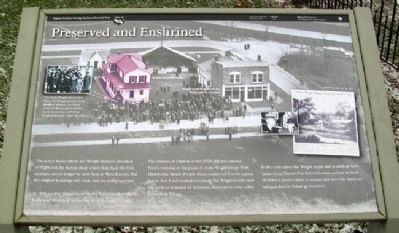 Preserved and Enshrined Marker image. Click for full size.
