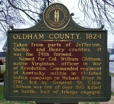 Oldham County, 1824 Marker image. Click for full size.
