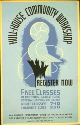 Hull House Art Classes WPA poster (1938) image. Click for full size.