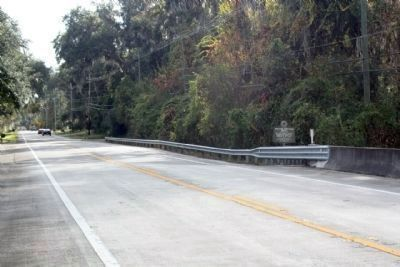 William Bartram Trail Marker looking south on State Road 13 image. Click for full size.