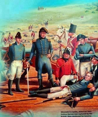 Commodore Barney lying wounded in the Bladensburg Road image. Click for full size.