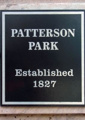 Sign at the Gates of Patterson Park image. Click for full size.