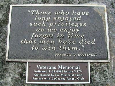 Veterans Memorial Marker image. Click for full size.