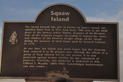 Squaw Island Marker image. Click for full size.