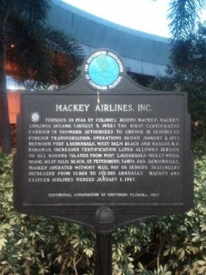 Mackey Airlines, Inc. Marker image. Click for full size.