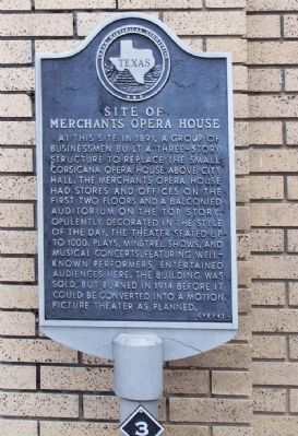 Site of Merchants Opera House Marker image. Click for full size.
