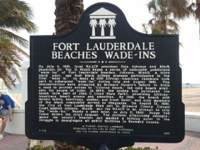 Fort Lauderdale Beaches Wade-Ins Marker image. Click for full size.
