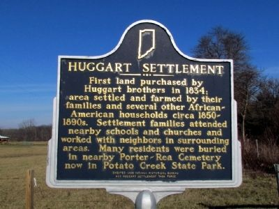 Huggart Settlement Marker image. Click for full size.