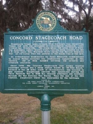 Concord Stagecoach Road Marker image. Click for full size.